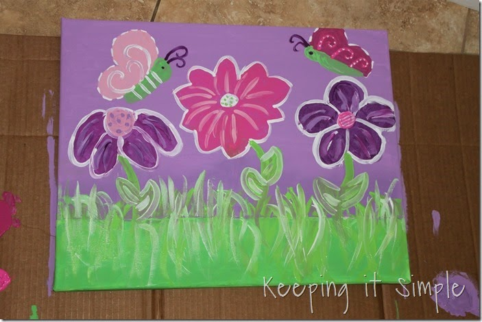 butterfly and flower painted canvas #DecoArt (7)