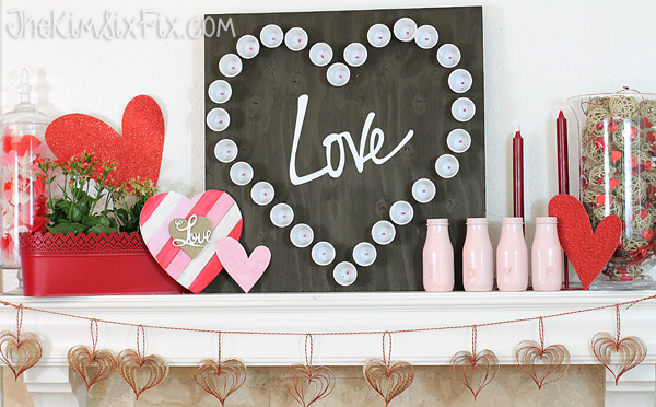 Valentines love mantel