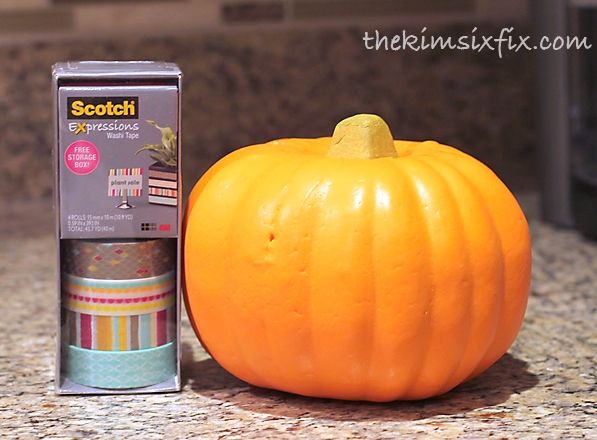 Pumpkin scotch washi tape