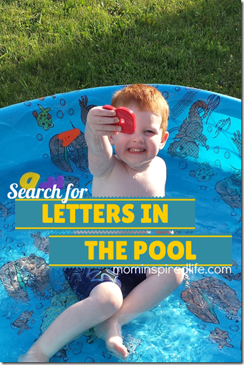 Search for Letters in the Pool from Mom Inspired Life