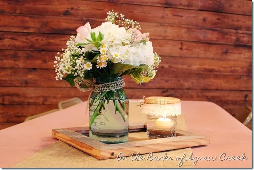 mason ball jar centerpiece