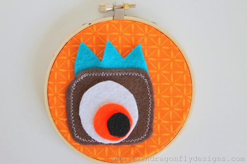 Monster Embroidery Hoop (19)
