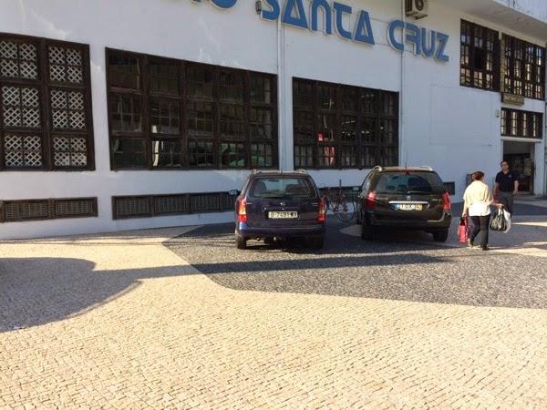 Estacionamento bicicletas Shopping Santa Cruz em Braga