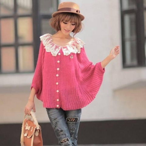 Autumn-Sweet-Batwing-Sleeve-Sweaters-Coat-Women-s-Cardigans-Knitted-Sweater-Free-Shipping-1043-