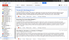 Google Reader my compact design