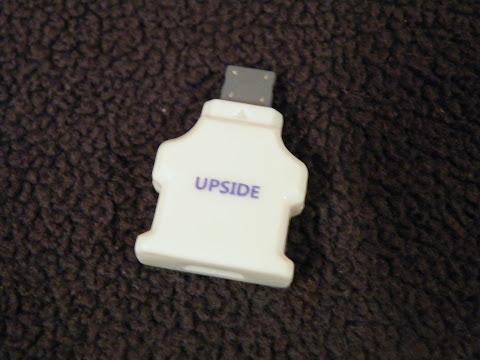 片面仕様なので「UPSIDE」と印字してある