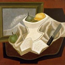 Juan Gris (1926): La Table devant le tableau. Galerie Louise Leiris. Paris. Francia.