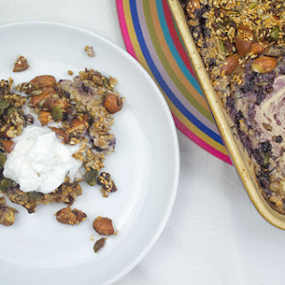 Wild Blueberry Coconut Baked Oat Crunch