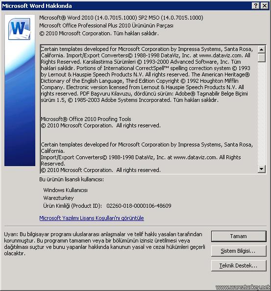 office 2010 sp2 64 bit