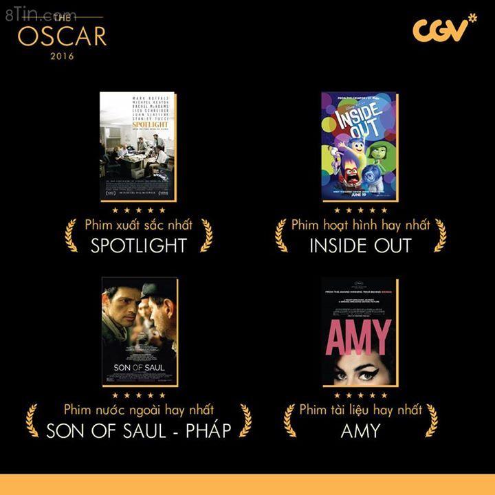 BẢNG VÀNG OSCAR 2016 Oscar năm nay đã làm nức lòng người