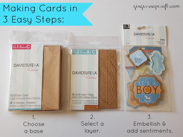 making cards in 3 easy steps with David Tutera