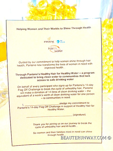 Pantene 14 Day Flag Off Challenge to Hair Health For Healthy Water