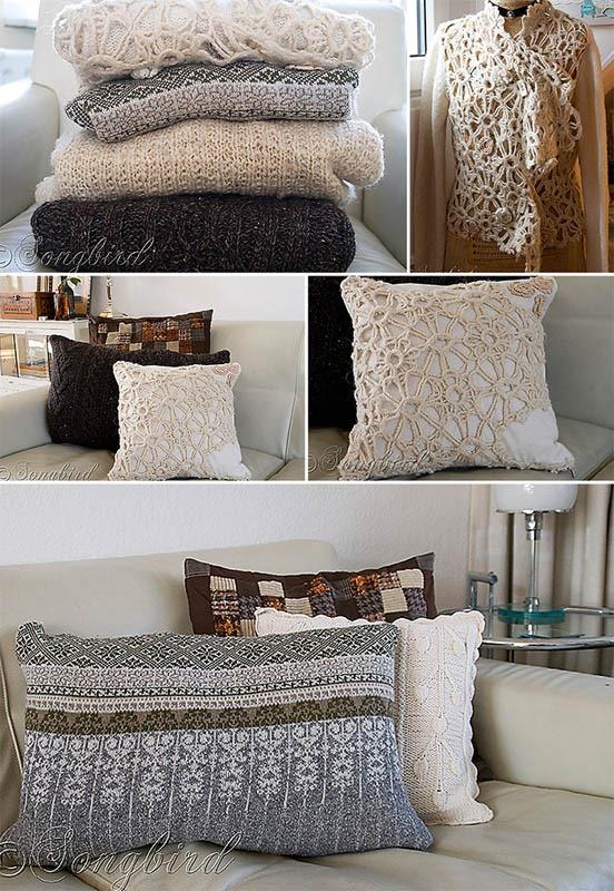 Songbird Sweater Pillows