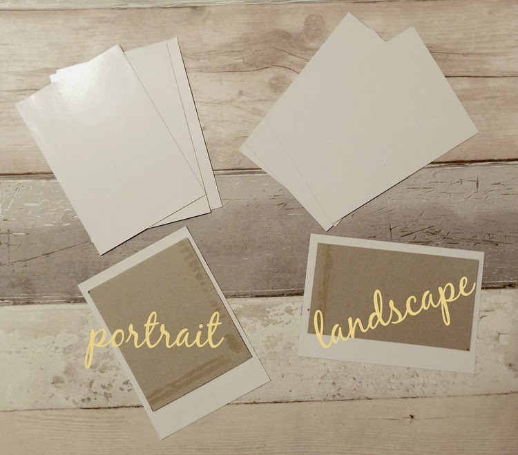 DIY magnetic polaroid frame with center template