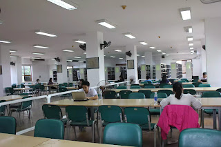 Một phòng đọc của Thư viện Quốc gia thưa vắng người đọc ngày 5-12.