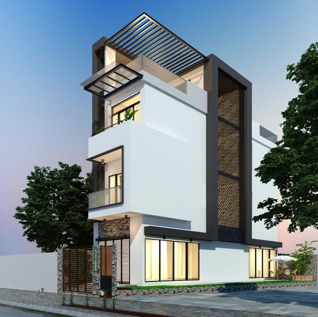 Nhà phố 3,5 tầng đẹp và hiện đại 07