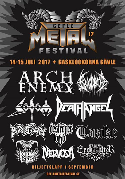 Nu jeflar Gefle Metal Festival will be our only show in Sweden 2017