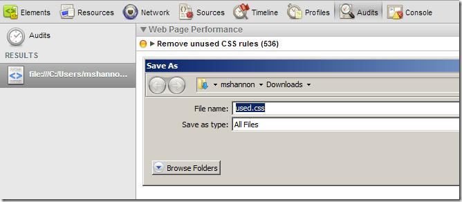 remove unused css chrome plugin