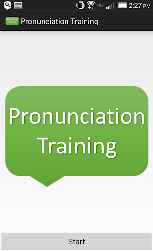 Pronunciation Training