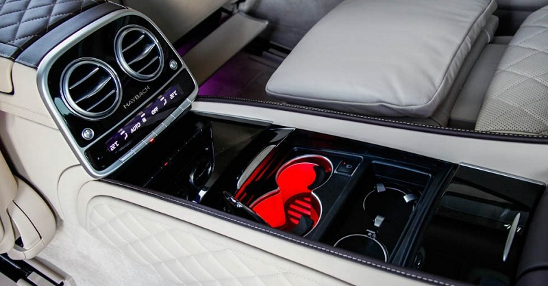 Nội Thất Xe Mercedes Benz S600 MAYBACH Màu Đen 022