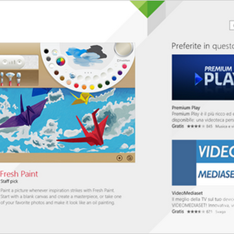 Un mondo di app nel Windows Store.