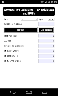Tax Calculator - India- screenshot thumbnail