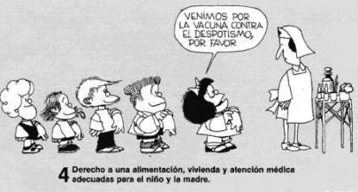 Mafalda Y Los Derechos De Los Niños Para Colorear
