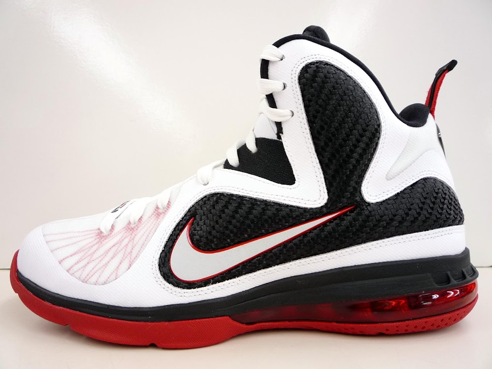competitive price 6f618 47341 ... White/White-Black-Sport Red. Nike LeBron 9 WhiteBlackRed 8220Miami  Heat8221 Home ...