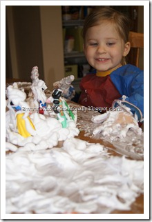 Indoor Snowman Sensory Activity for Preschoolers