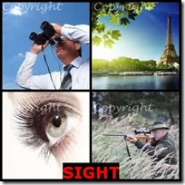 SIGHT- 4 Pics 1 Word Answers 3 Letters
