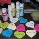 Conversation Heart Ornaments