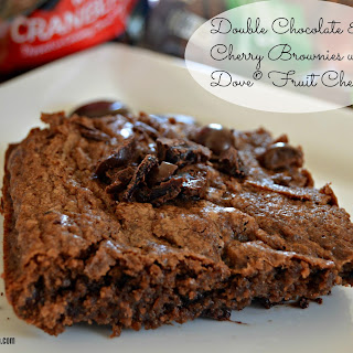 Double Chocolate & Cherry Brownies with Dove® Fruit Cherries