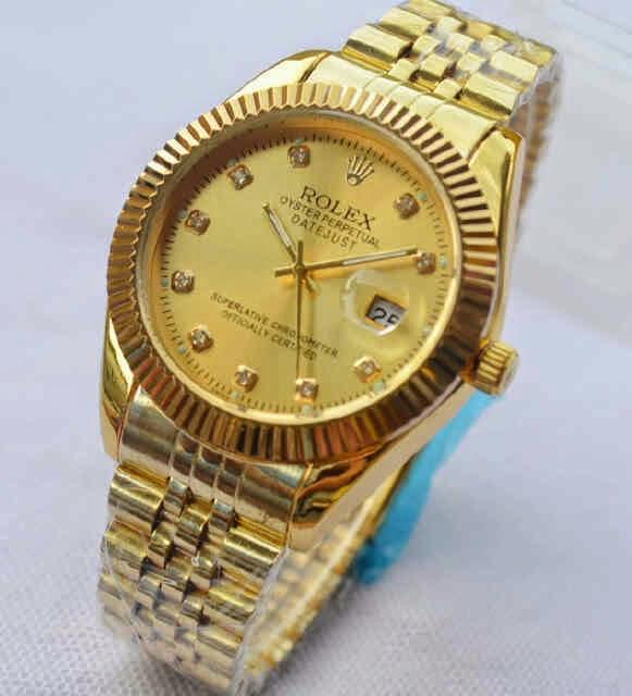 Jual jam tangan Rolex Oyster full gold