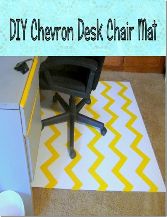DIY Chevron Chair Mat