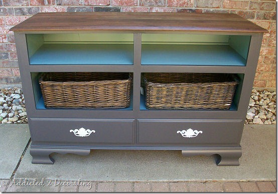 Dresser Turned Television Console Addicted 2 Decorating