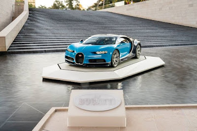 The Bugatti Chiron at the Fondation Louis Vuitton in Paris The worlds