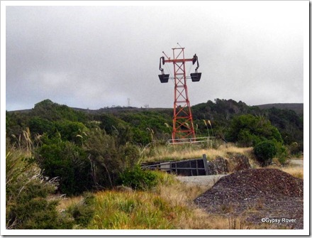The later aerial ropeway which closed a year after the Incline in favour of road transport.