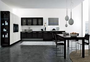 cocina-blanca-negra-moderna Cocinas de diseño