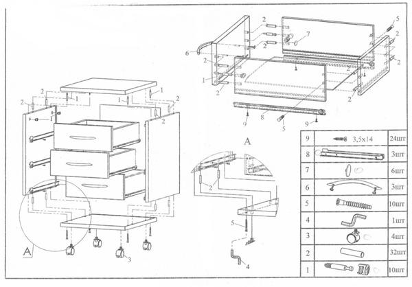 Разработка инструкции по сборке мебели в 3DVia Composer
