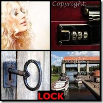 LOCK- 4 Pics 1 Word Answers 3 Letters