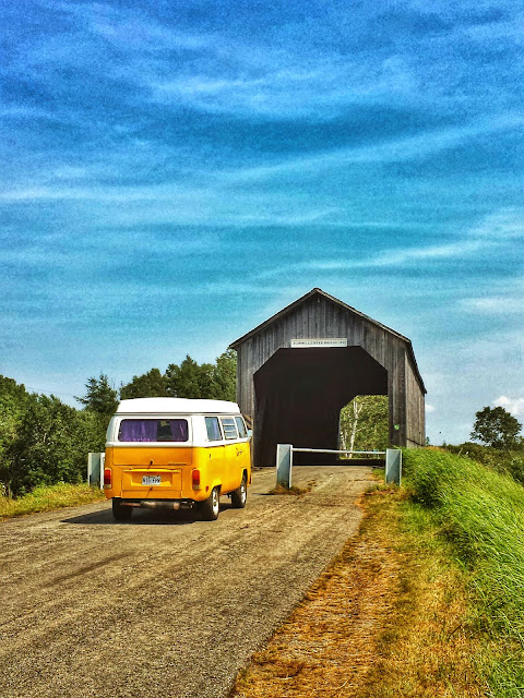 T2 Westfalia on the road from Hopewell Rocks to Malma