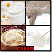 CREAM- 4 Pics 1 Word Answers 3 Letters