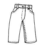Dibujos De Pantalones Para Colorear