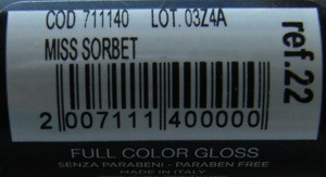 Shaka Full Color Gloss Miss Sorbet