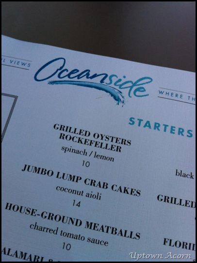 oceanside menu