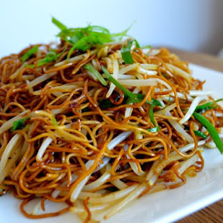 CANTONESE SOY SAUCE PAN-FRIED NOODLES.