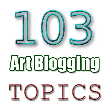 artist blogging topics write