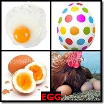 EGG- 4 Pics 1 Word Answers 3 Letters