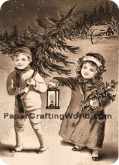 pcw Christmas kids sepia350