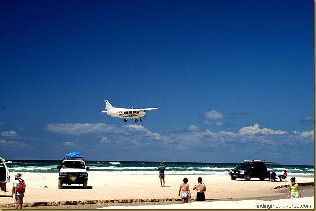 Planes landing on the beach are just one of the hazards...
